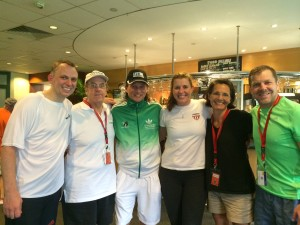Americans at the World Masters Championships: me, Ken Stillman, Andre Maur, Natalie Grainger, Hope Prockop and Will Carlin.