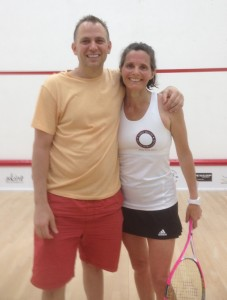 With Hope Prockop, my friend and US Masters teammate, moments after her impressive battle with Sarah Fitzgerald.